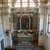 The chapel within the castle in Italy.  It had been looted, but they were in the process of restoring it.