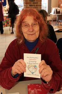08 FEB 2020 – Pictured: Local artist Daphne Sandham - St Nicholas Church Clock Fund Craft Fair at The 1912 Centre, Harwich – Photo Copyright © Maria Fowler 2020
