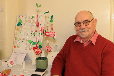 08 FEB 2020 – Pictured: Local artist Roger Hamer - St Nicholas Church Clock Fund Craft Fair at The 1912 Centre, Harwich – Photo Copyright © Maria Fowler 2020