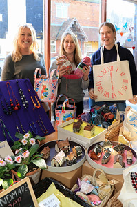08 FEB 2020 – Pictured: L-R: Charlotte Heales, Lucy Hollis and Julie Steyaert - St Nicholas Church Clock Fund Craft Fair at The 1912 Centre, Harwich – Photo Copyright © Maria Fowler 2020