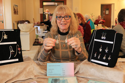 08 FEB 2020 – Pictured: Christine Shaw (Angel Creations by Christine) - St Nicholas Church Clock Fund Craft Fair at The 1912 Centre, Harwich – Photo Copyright © Maria Fowler 2020