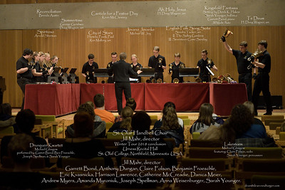 St. Olaf Handbell Choir, Winter Tour 2018, Urness Recital Hall, St. Olaf College, Northfield, Minnesota USA.