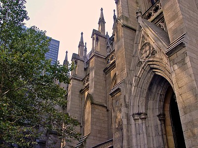 The Nave Wall on the 51st Street side of the building