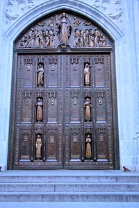 The Beautiful Ceremonial Center Doors of St. Patrick's Cathedral