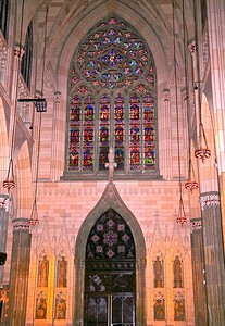 The Stain Glass Window in the South Transepts