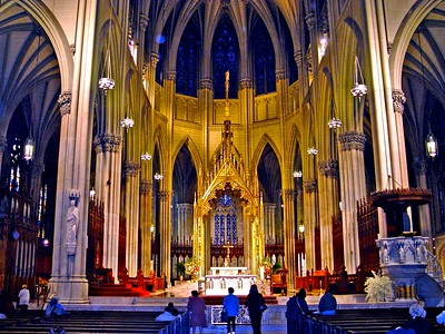 The Sanctuary of St. Patrick's Cathedral in New York City