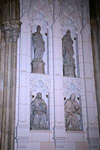 Statues in the Niches of the South Transepts Wall.