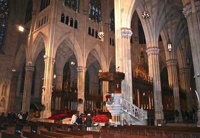 A  View of the Transepts of St. Patrick's Cathedral