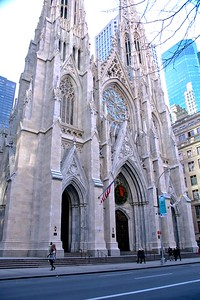 St. Patrick's Cathedral on 5Th Avenue, NYC