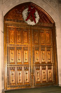 Interior of the Bronze Doors from the Narthex of the Cathedral