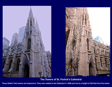 The Gothic Towers of St. Patrick's Cathedral in New York City