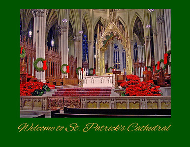 The High Altar of St. Patrick's at Christmas