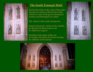 The South Transept Wall in St. Patrick's Cathedral in NYC