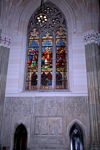 The St. Patrick Window  located in the south transept of the Cathedral