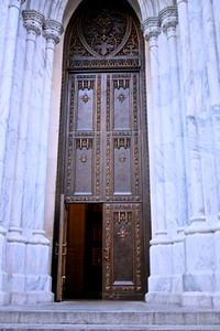 The beautiful Tower Entry Doors to the Cathedral