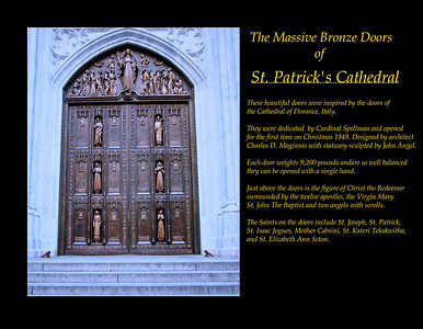 The Great Bronze Doors of St. Patrick's Cathedral