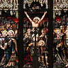 This stain glass window behind the altar, depicting the crucifixions of Jesus was on of the many restored items during the renovation of St. Patrick's in Lowell. SUN/JOHN LOVE