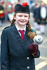 EEXXjob 17/03/2018  SOCIAL St. Patricks parade, Fermoy , County Cork.  Pictured at this years annual St. Patrick's day parade in Fermoy County Cork , Zoe Costigan from Fermoy with the Thomas Kent, pipe band.  Picture Andy Jay