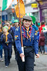 EEXXjob 17/03/2018  SOCIAL St. Patricks parade, Fermoy , County Cork.  Pictured at this years annual St. Patrick's day parade in Fermoy County Cork, a young lady representing her North Cork Scout Group.  Picture: Andy Jay
