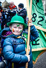 EEXXjob 17/03/2018  SOCIAL St. Patricks parade, Fermoy , County Cork.  Pictured at  this years annual St. Patrick's day parade in Fermoy County Cork, young Fionn Edmunds as he fly's the flag for his scout group. Picture Andy Jay