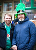 EEXXjob 17/03/2018  SOCIAL St. Patricks parade, Fermoy , County Cork.  Pictured at this years annual St. Patrick's day parade in Fermoy County Cork l-r  Greg Burford from Ottawa Canada and Trevor Higgins.  Picture Andy Jay