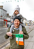 EEXXjob 17/03/2018  SOCIAL St. Patricks parade, Fermoy , County Cork.  At this years annual St. Patrick's day parade in Fermoy County Cork, pictured Kevin Quinlan and young Gráinne waiting for the parade to start….  Picture Andy Jay