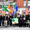 Annual St Patricks Day Parade heads down Merrimack Street  lead by The Russian Piper Philip J. Klibansky of Georgetown Ma., and color guard from Lowell Fire Dept., kicking off Irish Cultural Week. SUN/ David H. Brow