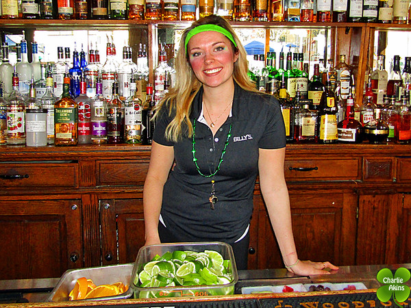 This nice lady works at BILLY'S Bar & Grill.