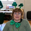 The Fitchburg Senior Center had a Saint Patricks Day Party on Thursday, March 14, 2019. The entertainment was Vinny Prendergast & The Sons of Blarney. they served up a corned beef and cabbage dinner for the party goers. All dreesed up for the party is Kathy Reardon of Fitchburg. SENTINEL & ENTERPRISE/JOHN LOVE