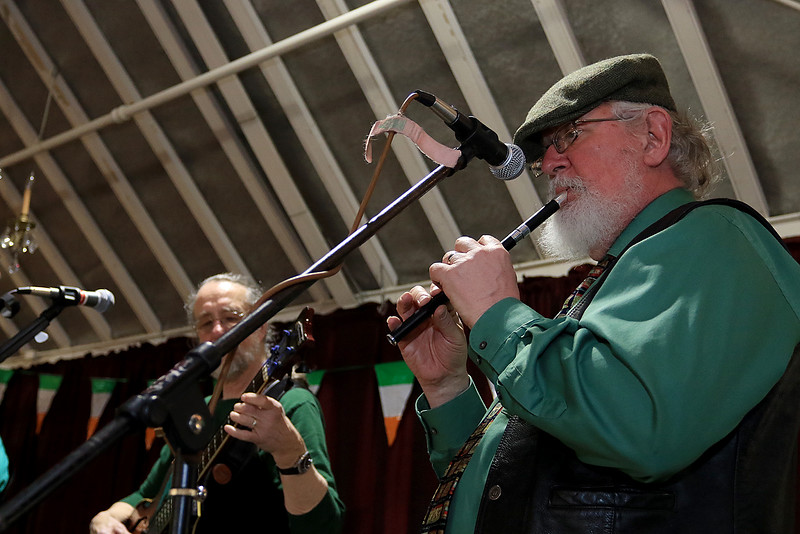 The Fitchburg Senior Center had a Saint Patricks Day Party on Thursday, March 14, 2019. The entertainment was Vinny Prendergast & The Sons of Blarney. they served up a corned beef and cabbage dinner for the party goers. Playing with the band is Steve Brown. SENTINEL & ENTERPRISE/JOHN LOVE