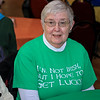 The Fitchburg Senior Center had a Saint Patricks Day Party on Thursday, March 14, 2019. The entertainment was Vinny Prendergast & The Sons of Blarney. they served up a corned beef and cabbage dinner for the party goers. Having fun at the party is Judy Miller of Fitchburg. SENTINEL & ENTERPRISE/JOHN LOVE