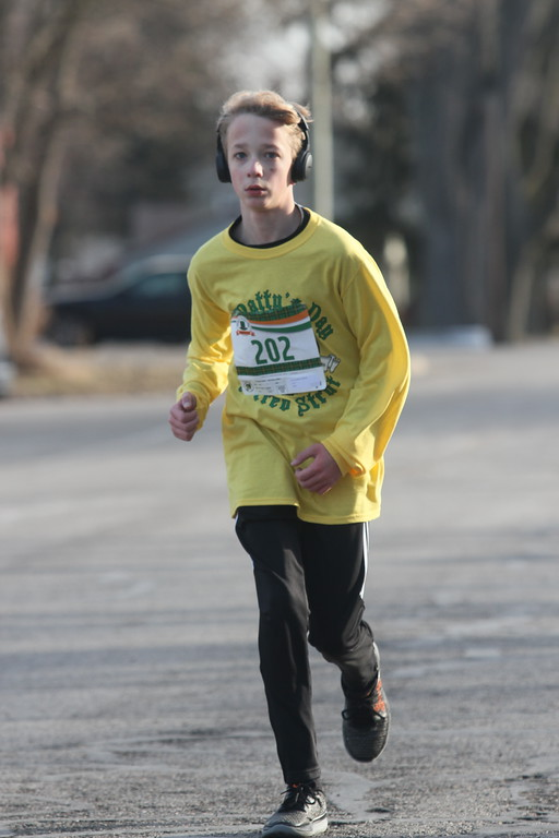 . The second annual St. Patty�s Day Strev Strut honored late Anchor Bay cross country and track coach Missy Streveler and raised funds for scholarships. (Photos by Dave Angell)