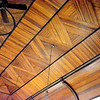 The ceiling of the St. Paul Blue Point Lutheran Church features detailed woodwork. Charles Mills photo