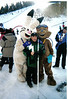 Dave Edlund and 2002 Olympic Mascots from the Salt Lake City Olympic games.