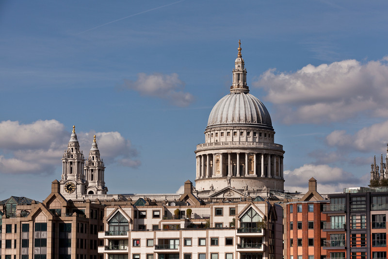 St Paul's Cathedral - view from the South Bank of the River Thames
