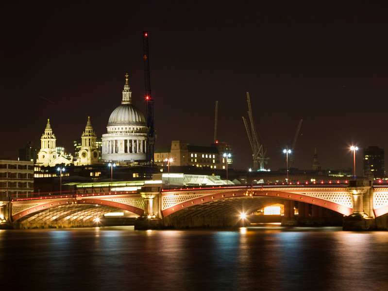 Blackfriars Bridge & St Paul's Cathedral at Night