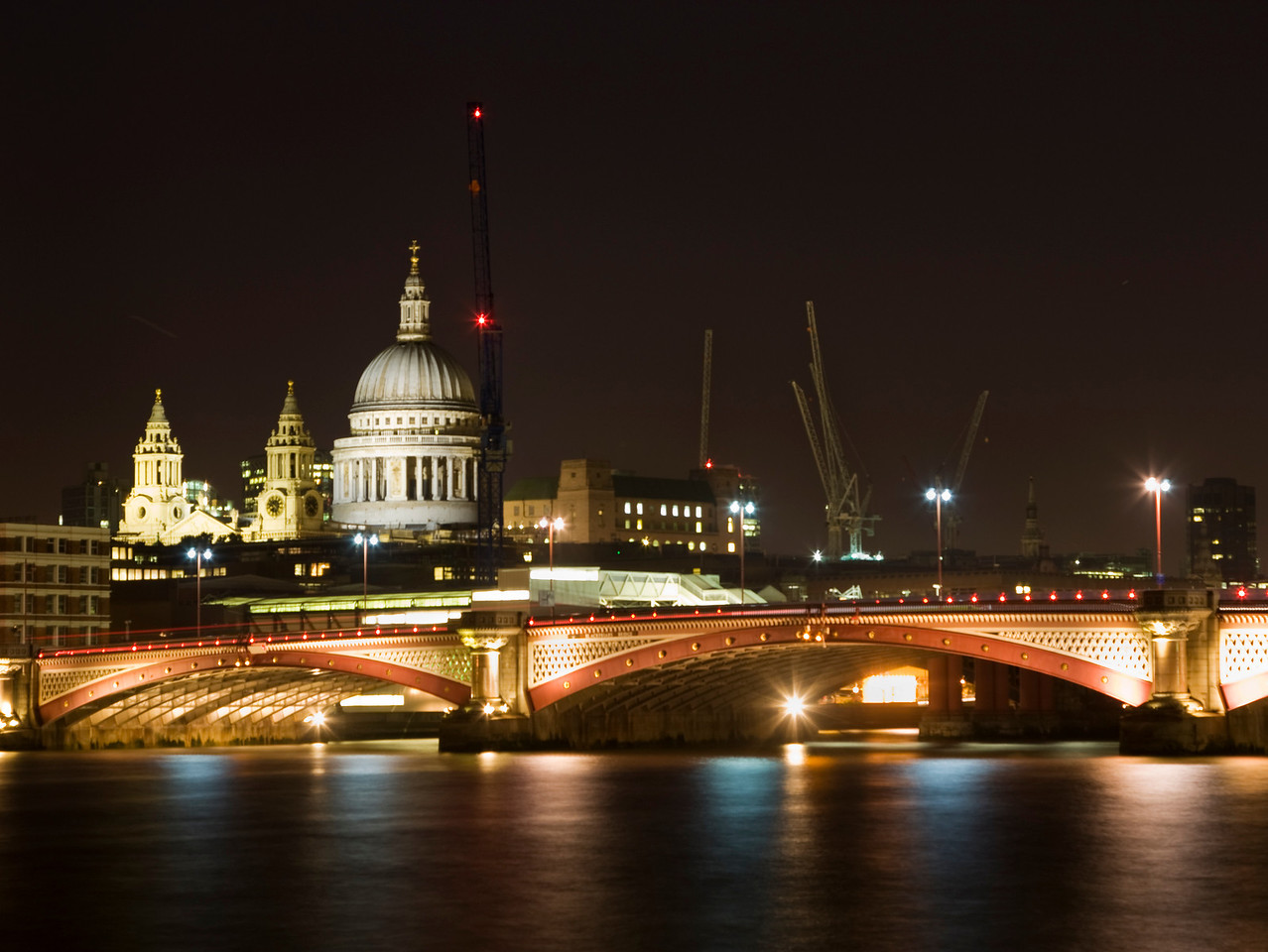 Blackfriars Bridge & St Paul's Cathedral at Night