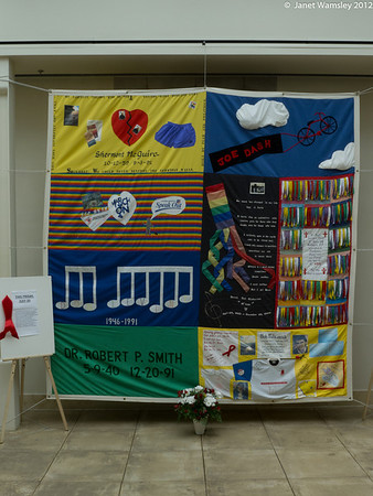 2012 Aids quilt display
