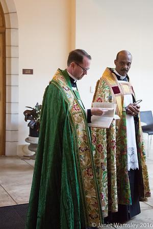 Fr Humphrey visit with choirs