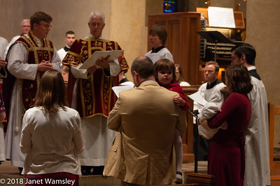 2018 Pentecost procession and baptism