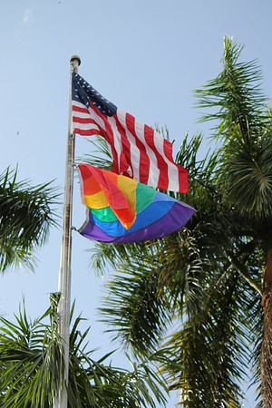 St. Pete Pride 2014  Pride Flag Flies over City Hall