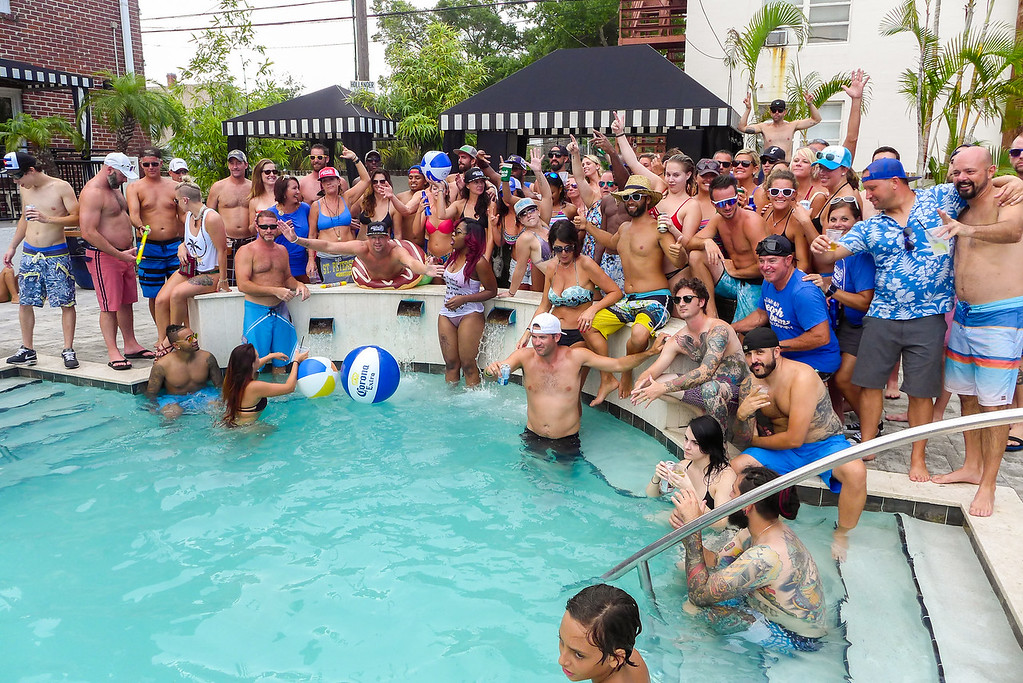 Pool Party at the Hollander