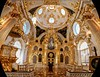 Chapel inside the Catherine palace. Wide angle view.
