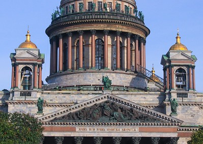 Completed in 1858, the ornate St. Isaac's Cathedral controversially took 40 continuous years to build.