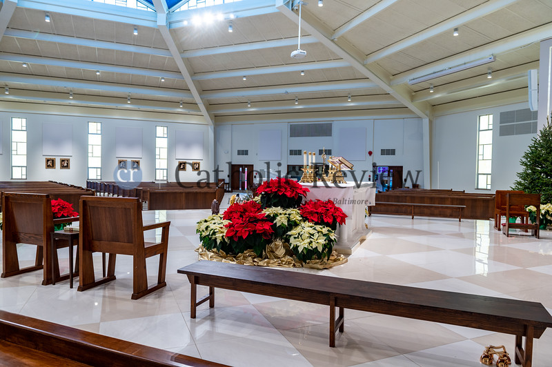 St. Philip Neri Church in Linthicum Heights celebrated Christmas services in their new worship space following a six-month renovation totally $1.5 million. (Kevin J. Parks/CR Staff)