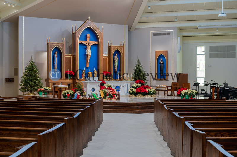 St. Philip Neri Church in Linthicum Heights recently completed a six month, $1.5 million renovation that reimagined the original worship space built in 1965. (Kevin J. Parks/CR Staff)