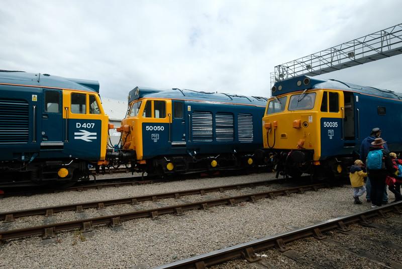 class 50s D407, 50050, 50035