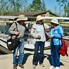 Bud, Buster and Ellen preparing to board excursion boat in Okefenokee National Wildlife Refuge in Georgia.