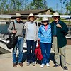 Bud, Buster, Ellen and Alan preparing to board excursion boat into the Okefenokee National Wildlife Refuge.