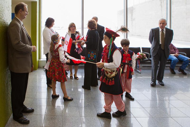 Cardinal Dziwisz Arrival 5/15/2014